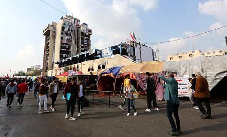 Irakin turvallisuustilannetta heikentävät ulkoministeriön mukaan mielenosoitukset, jotka ovat olleet ajoittain väkivaltaisia. Arkistokuva.