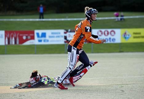 Milla Lindström eteni pelissä hyvin, mutta sekään ei Pesäkarhuille riittänyt.