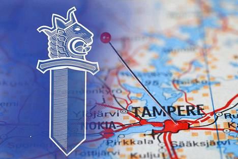 Paikkoja kartalla. Places on the map.