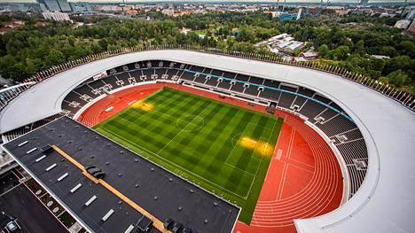 Uusittu Helsingin Olympiastadion olisi Pohjoismaiden yhteisessä EM-hakemuksessa yksi todennäköinen pelinäyttämö.