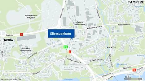 Palo sai alkunsa pienteollisuusrakennuksessa Tampereen Myllypurossa.
