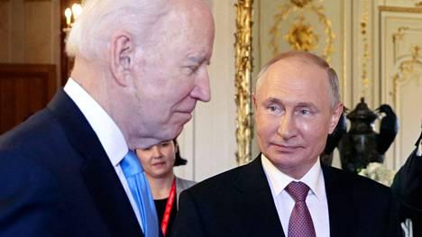 Yhdysvaltain ja Venäjän presidentit Joe Biden ja Vladimir Putin tapasivat keskiviikkona Sveitsin Genevessä.