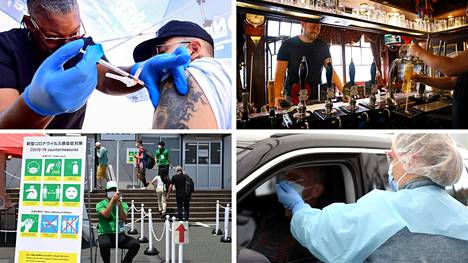 Englannissa koitti maanantaina niin sanottu vapauden päivä, kun maa purki rajoituksia. Japanissa puolestaan valmistauduttiin perjantaina alkaneisiin Tokion olympialaisiin.