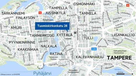 Palon alku syttyi Tampereen keskustassa sijaitsevassa Stockmann-tavaratalossa.