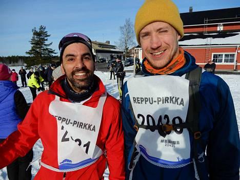 Iloiset ensikertalaiset – David Parra ja Juha Mikkola.