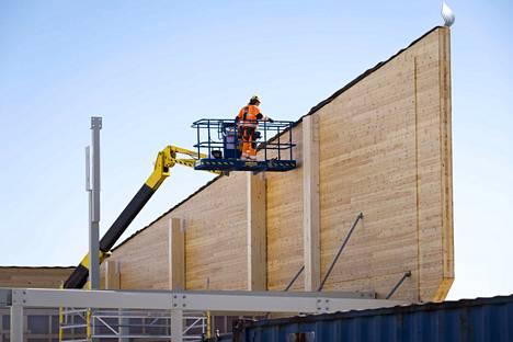 Terveellisen rakentamisen ratkaisuihin erikoistuneen Trä Groupin tapahtumassa keskustellaan tiistaina muun muassa puurakentamisesta. Kuvituskuva.