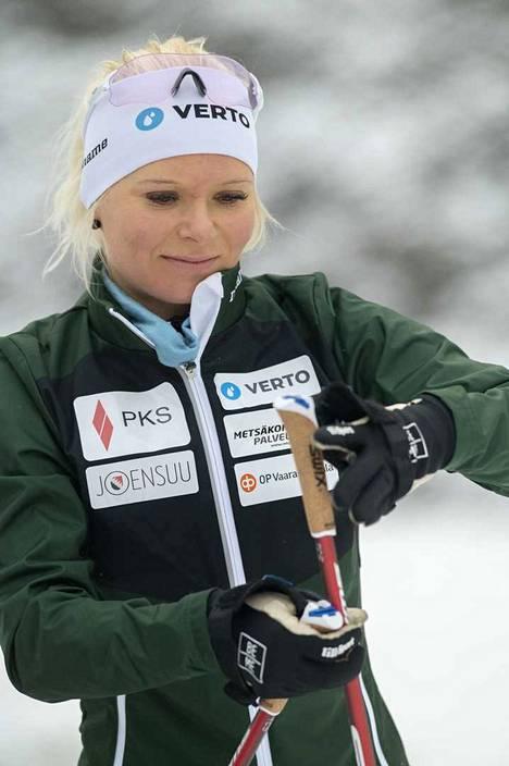 Mari Eder ei mieti tulevia olympialaisia, vaan keskittyy täysillä alkavaan kauteen.