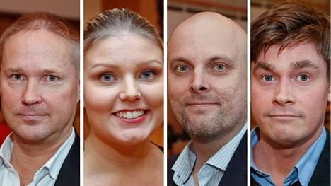 Lassi Kaleva (ps.), Olga Haapa-aho (vihr.), Pekka Salmi (sd.) ja Ilkka Sasi (kok.) kommentoivat maanantaina tuoreeltaan Aamulehden tuoretta kannatusmittausta.