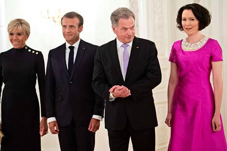 Ranskan presidenttipari Emmanuel ja Brigitte Macron vierailivat viime elokuussa Helsingissä. He tapasivat presidentti Sauli Niinistön ja Jenni Haukion.