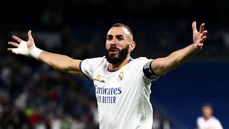 Real Madrid oli yksi uuden Superliigan vetureista sen suunnitteluvaiheessa. Kuvassa Real-hyökkääjä Karim Benzema Mallorca-ottelussa 22.9.