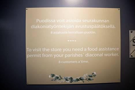 Hävikkiruokakauppa ei ole kaikille avoin, vaan siellä voivat käydä vain luvan saaneet kaupunkilaiset.