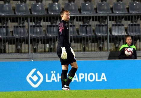 William Jääskeläiselle on kertynyt torjuntavastuuta sekä maajoukkueessa että seurajoukkueessa. Juha Tamminen / All Over Press