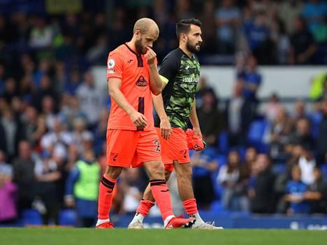 Norwichin Temeu Pukki näytti lauantaina mietteliäältä ja syystä: Everton järjesti joukkueelle kauden kuudennen tappion.