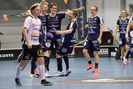 Nokian KrP juhli Suomen cupin finaalipaikkaa lauantaina.