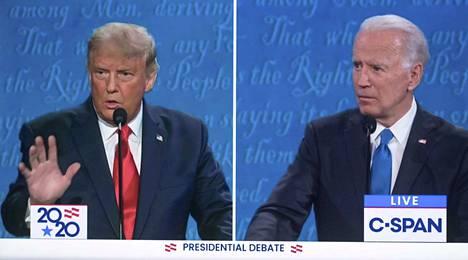 Istuvan presidentin Donald Trumpin ja vastaehdokkaan, ex-varapresidentti Joe Bidenin välinen väittely keskittyi muun muassa ulkopolitiikkaan.