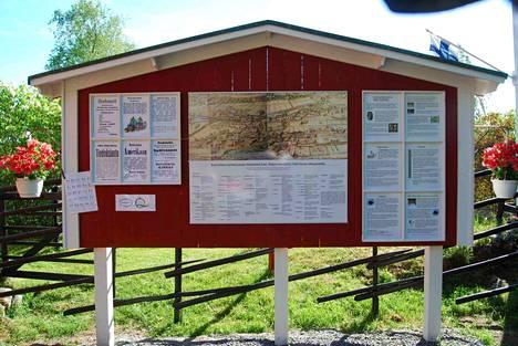 Alakylän historiataulu kertoo monipuolisesti kylän vaiheista.