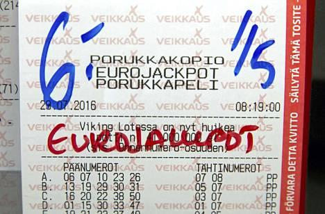 Veikkauksella Eurojackpot-rivi maksaa 2 euroa, Unibetillä 1,80 euroa.