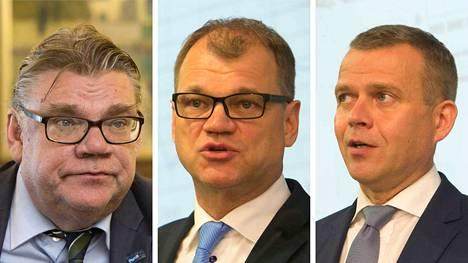 Timo Soini, Juhä Sipilä ja Petteri Orpo kommentoivat Saksan vaalitulosta.