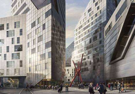 Alueen tornitaloihin tulee 1000 uutta asuntoa. Viimeisten tornitalojen pitäisi valmistua vuonna 2024.