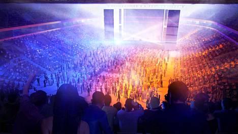 Monitoimiareenan konserttiin mahtuu 14000 ihmistä.