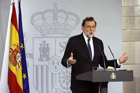 Pääministeri Mariano Rajoy on listannut tänään toimet, joita hallitus ajaa Katalonian kriisin ratkaisemiseksi.