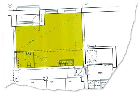 Aihio Arkkitehdit laati Aleksovskien huoneistoon vuonna 2015 suunnitelman, jonka mukaan asuntoon rakennettaisiin hieman yli 40 neliön lisähuone ullakolle.