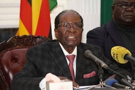 Zimbabwen presidentti Robert Mugabe.