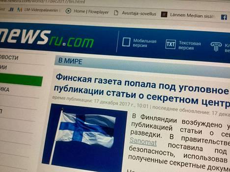 Venäläismediassa on uutisoitu puolustusvoimien tietovuodosta.