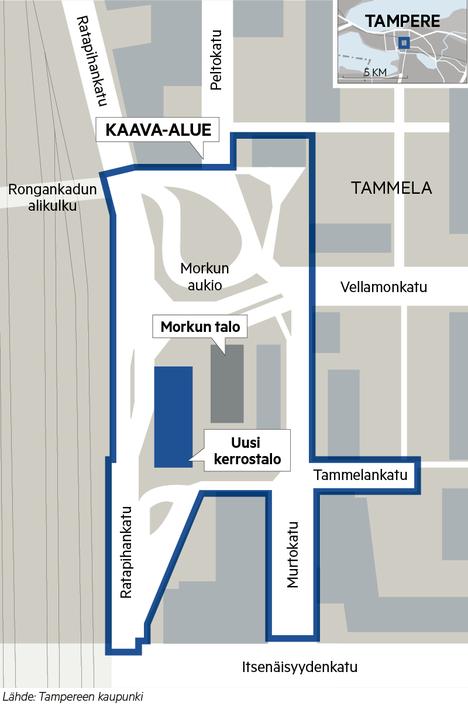 Alustavassa asemakaavaluonnoksessa Ratapihankatu vedetään suoraan ja tavara-asema puretaan. Paikalle rakennetaan 7-8 kerroksinen kerrostalo.
