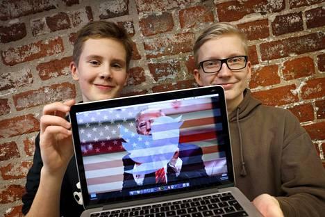 Porin Kaarisillan yhtenäiskoulun 9A-luokan oppilaat Eero Lepistö ja Aapo Harjunpää tekivät presidentti Trumpille opasvideon, miten sosiaalisessa mediassa ja erityisesti Twitterissä pitää käyttäytyä.