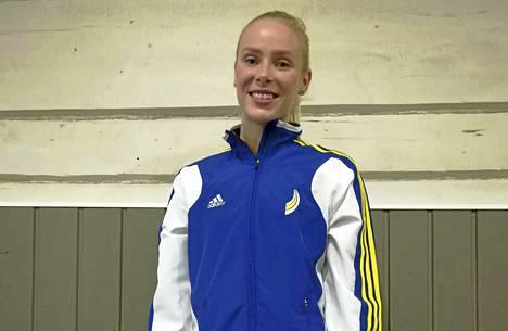 Janakkalan Janan Suvi Eerikäinen hyppäsi pituuskilpailun voittoon ennätyksellään. Tulos 589 on myös Janan uusi halliennätys.