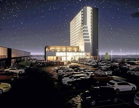 Jos hotelli toteutuu, sen parkkihalliin tulee 300 autopaikkaa.