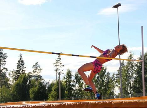 Laura Rautanen sai jälleen yhden SM-mitalin kokoelmiinsa, tällä kertaa SM-pronssia. Kuva kesältä 2017.