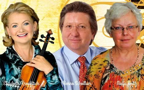 Wieniläisessä iltapäivässä viulisti Elisabeth Kropfitsch ja baritoni Benno Schollum Itävallasta esiintyvät kamarimuusikko, lied-pianisti Maija Weitzin kanssa Kerholassa sunnuntaina 18. maaliskuuta. kello 14.