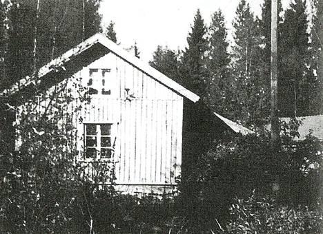 Kuvassa Svante Lehtosen lapsuudenkoti  Frankin torppa nykyisen Häyhtiönmaasta Harjavaltaan johtavan tien varrella.
