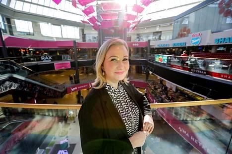 Koskikeskuksen johtaja Mari Laaksonen aloitti työnsä Cityconilla, kun Koskikeskus täytti 20 vuotta.