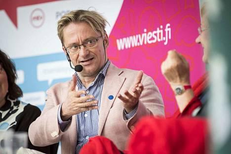Mikael Jungner viime kesän Suomi-Areenalla.