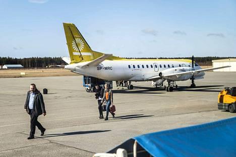 Torstaina kello 11 Tukholmasta tulleella Nextjetin lennolla oli viisi matkustajaa.