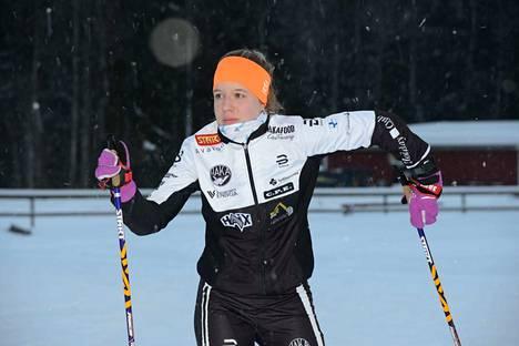Sonja Leinamo kävi vielä mittelemässä voimiaan Sotkamossa, jonka hiihtolukioon Hakan hiihtäjä on myös pyrkimässä.