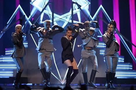 Saara Aallon Monsters-esitys onnistui hienosti Lissabonin Euroviisu-finaalissa.