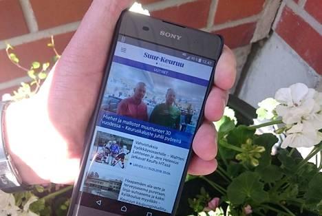 Tämän päivän uutisia tämän päivän keinoin. Uusi uutissovellus on helppo tapa seurata paikallislehden juttuja.