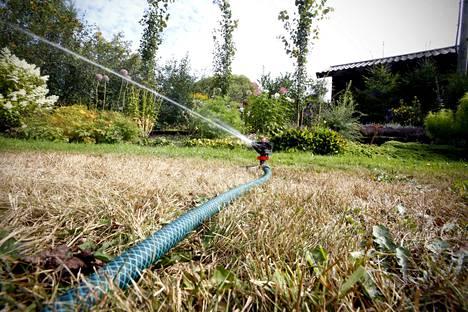 Rankkasade ei juuri kuivuutta helpottaisi, sillä maa on tällä hetkellä niin kuivaa, ettei se ehdi imeä ja ottaa vettä vastaan.
