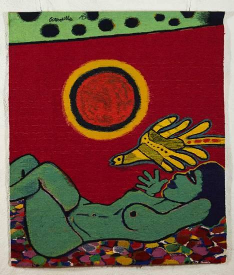Corneille, Kukkamatto, 1973. Tekstiili.