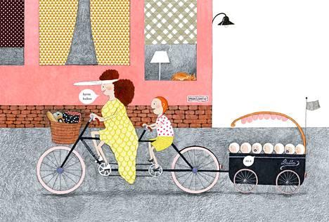 Johanna Ilanderin Eikka ja seitsemän sisarusta syntyi alkujaan Aalto-yliopiston opinnäytetyönä. Ajassa kiinni oleva tarina on hauskan absurdi ja graafisen suunnittelijan piirrosjälki ammattitaitoista.