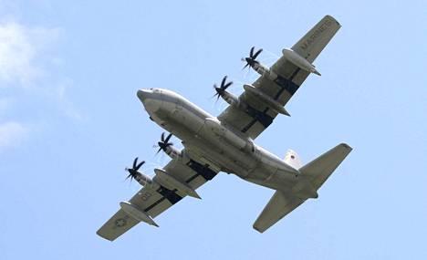 Hercules-koneet ovat sotilasrahtikoneita. Kuvituskuva.