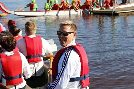 Kari Kähkönen oli Kangasmetsän Koulun joukkueessa vastuullisessa perämiehen roolissa.