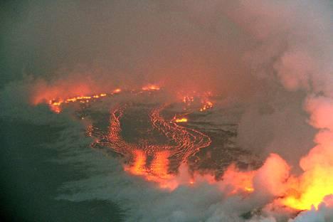 Mereen virrannut laava on kasvattanut Havaijin pääsaarta noin 283 hehtaarilla.