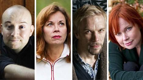 Jarkko Tontti (vas.), Päivi Alasalmi, Aleksanteri Kovalainen ja Niina Repo poimivat omat suosikkinsa syksyn uutuuksista.