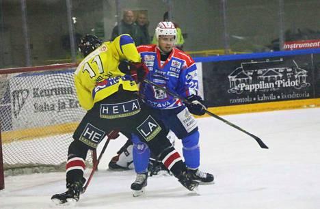 Puolustaja Roope Repo esitti hyviä otteita kaukalon molemmissa päädyissä Porissa. Mies on viimeistellyt toistaiseksi Suomen Cupin otteluissa KeuPa HT:lle neljä maalia.