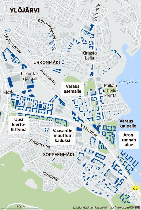 Ylöjärven ydinkeskustan täydennysrakentamissuunnitelmissa Aronrantaan oli kaavailtu asuntorakentamista. Valtuusto päätti kuitenkin, että Aronrantaa kehitetään virkistysalueena.